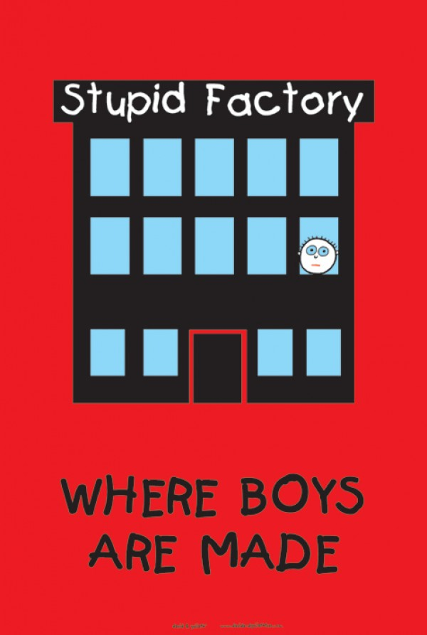 David & Goliath Stupid Factory Poster