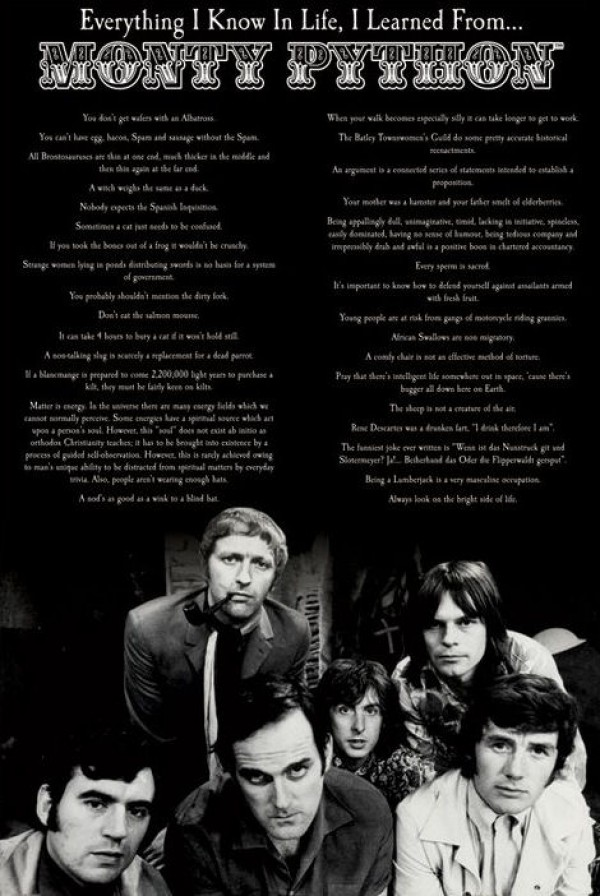 Monty Python - Everything I Know Poster