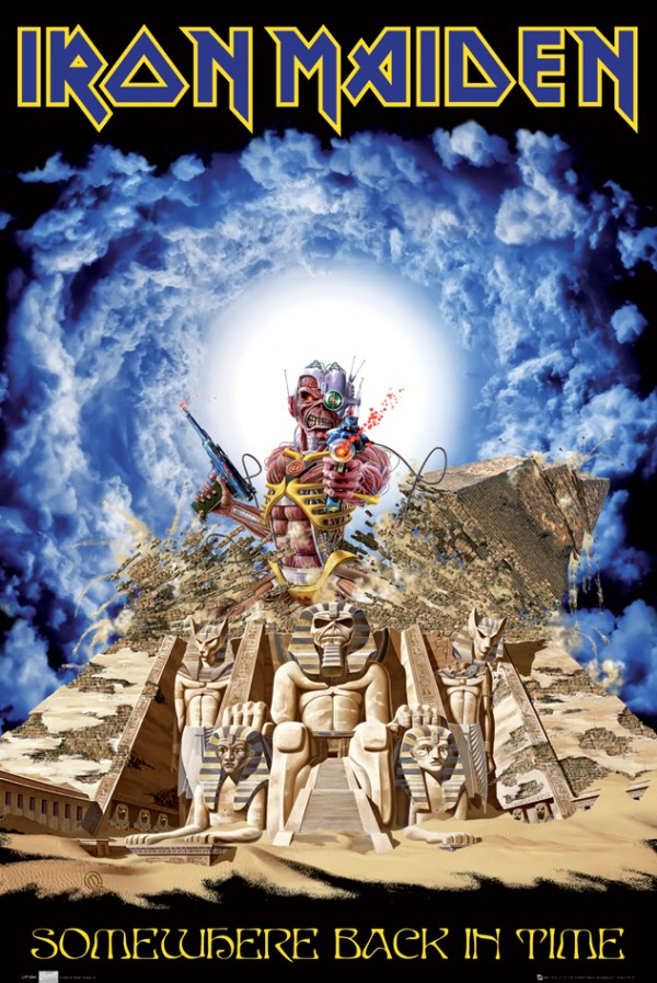 Iron Maiden Somewhere Back In Time Poster