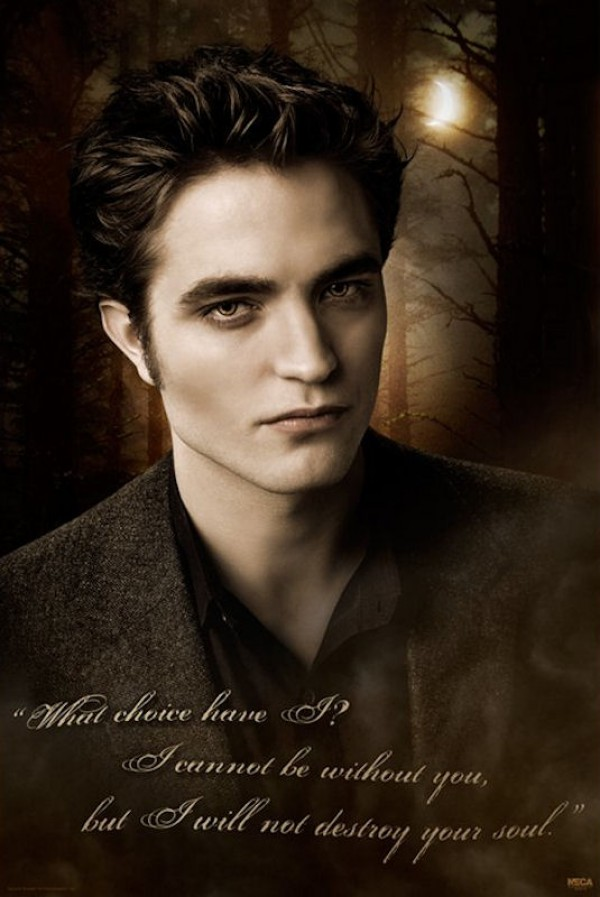 Twilight New Moon Edward Quote Poster