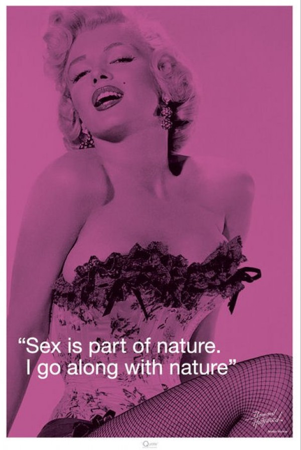 Marilyn Monroe Sex Quote Poster