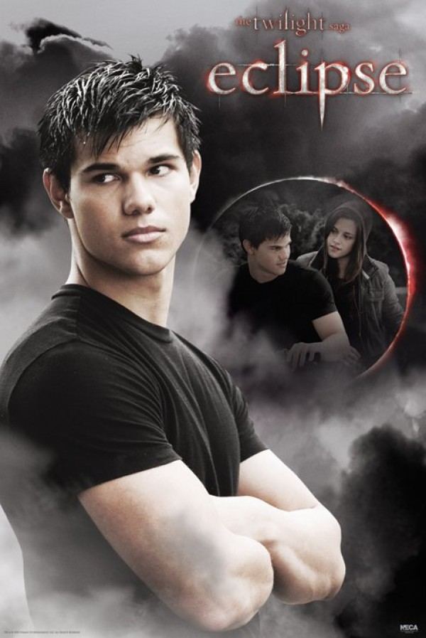 Twilight Eclipse poster featuring Taylor Lautner as jacob Black & kristen Stewart as Bella Swan.