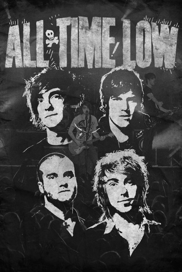 All Time Low (B/W) Poster