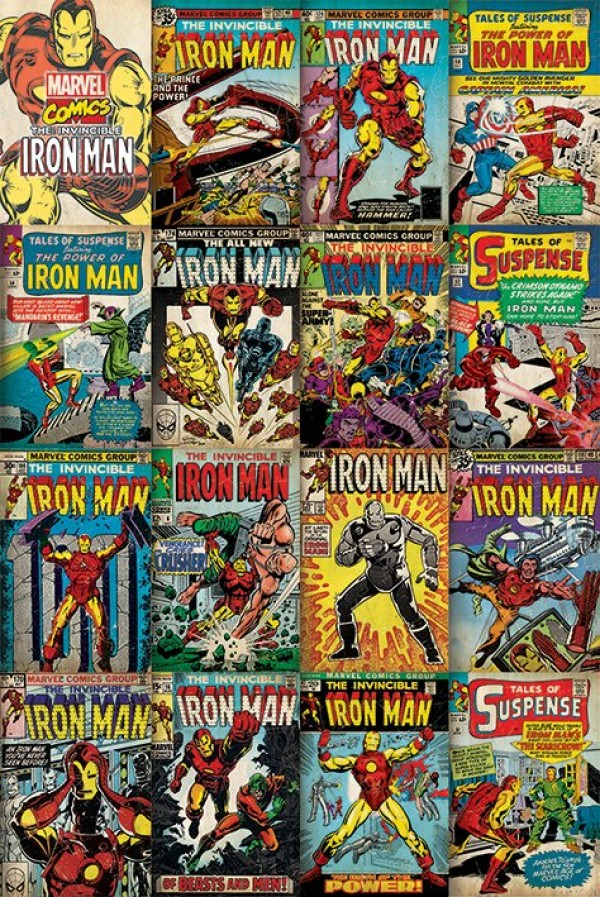 Iron Man (Marvel Covers) Poster