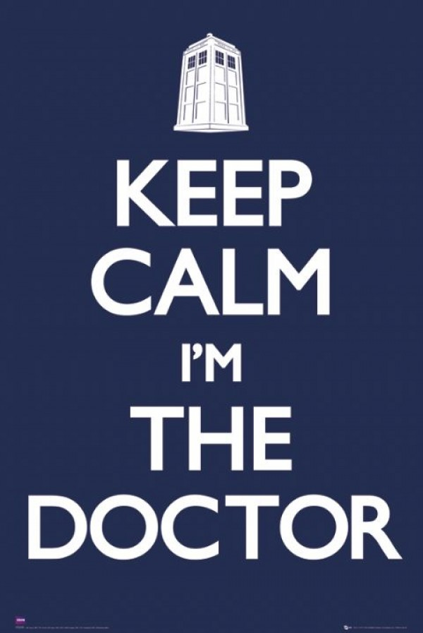 Doctor Who Keep Calm Poster