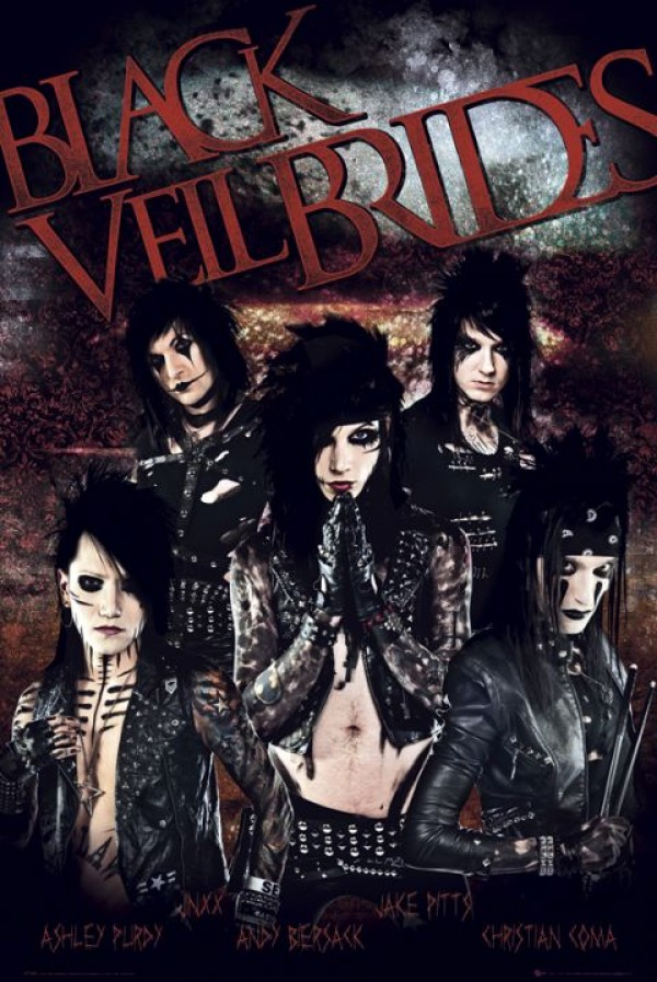 Black Veil Brides (Red) Poster