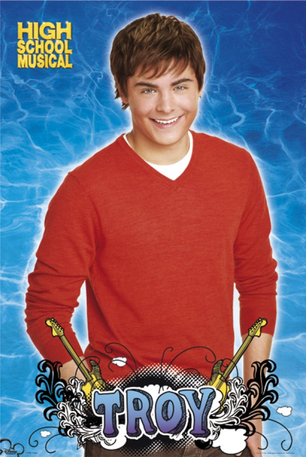 Zac Efron High School Musical Red Poster
