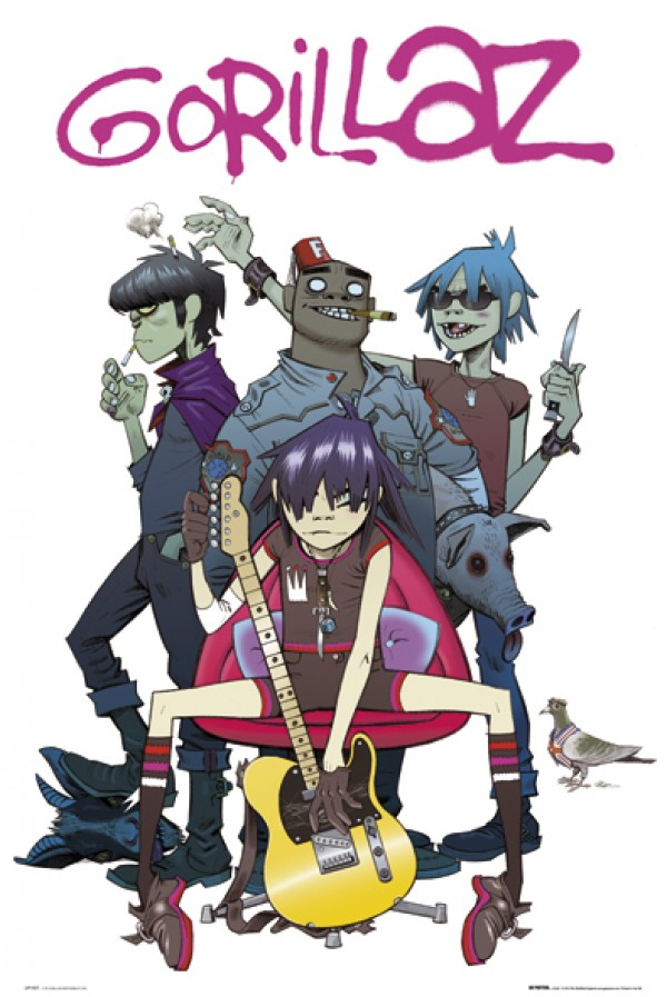 Gorillaz Characters Poster