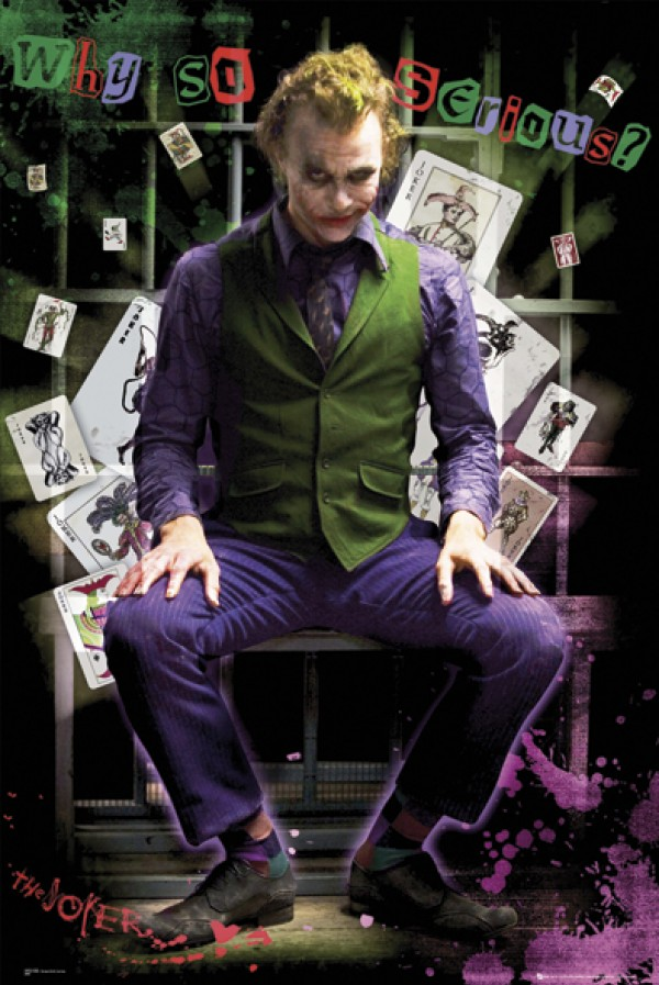 Batman Dark Knight Joker (Sitting) Poster