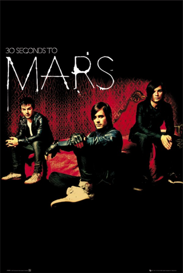 30 Seconds To Mars (Red) Poster