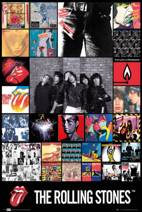 Rolling Stones Posters Rolling Stones Discography Poster