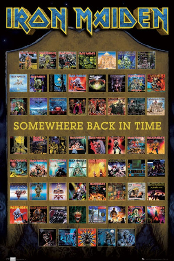 Iron Maiden Somewhere In Time (Covers) Poster