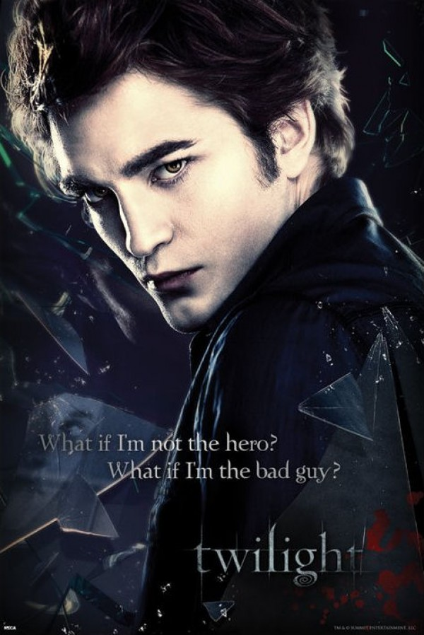 Twilight Edward Not The Hero Poster