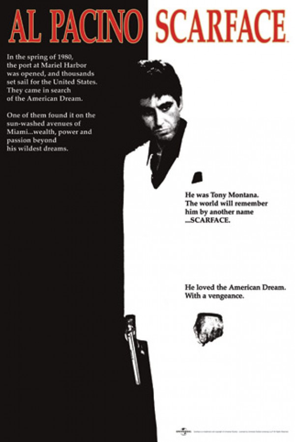 Scarface B/W Poster