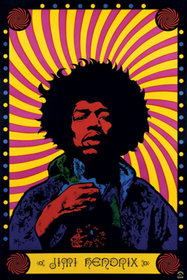 Jimi Hendrix Psychedelic Poster