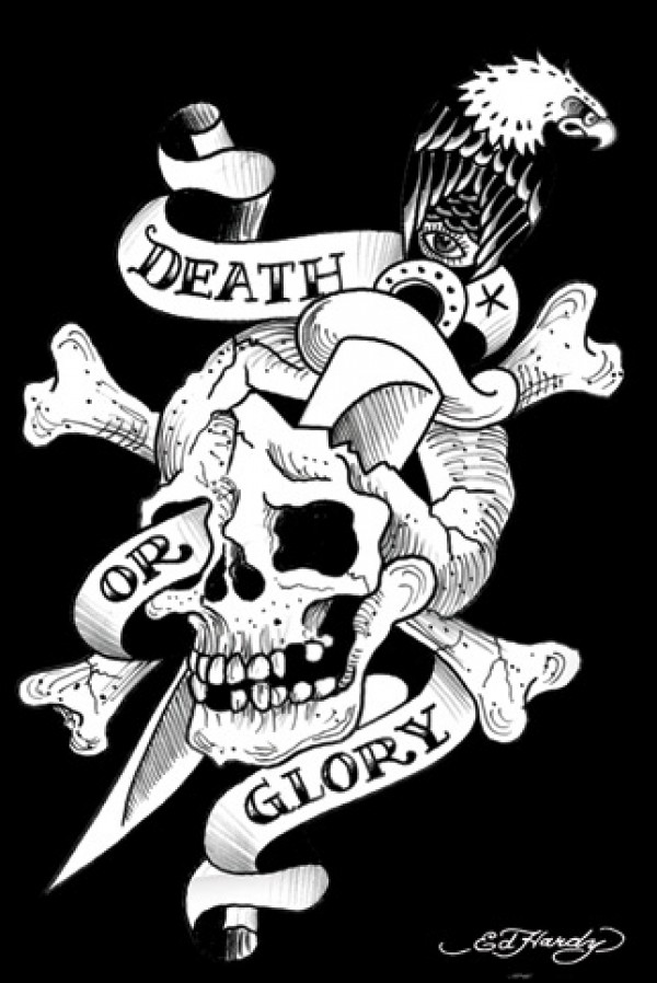 Ed Hardy Death Or Glory Poster