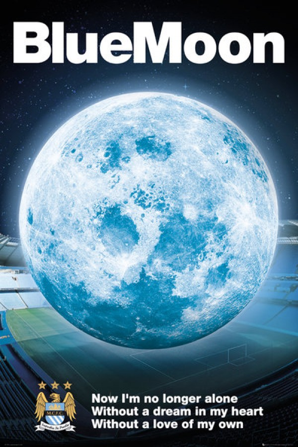 Man City (Blue Moon) Poster