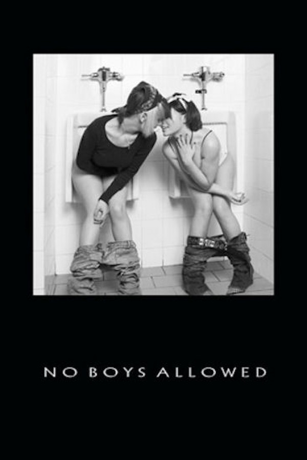 No Boys Allowed Girls Toilets Poster