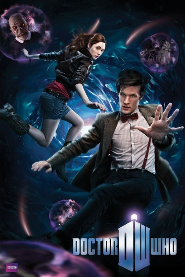 Dr Who poster featuring Matt Smith as The Doctor and Karen Gillan as Amy Pond