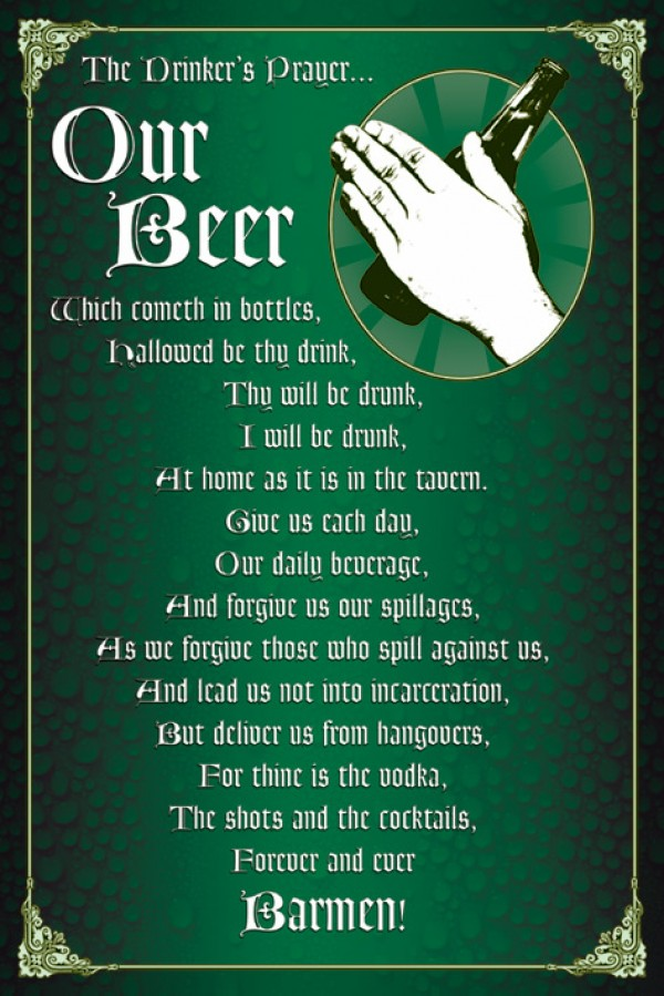 Drinkers Prayer Poster