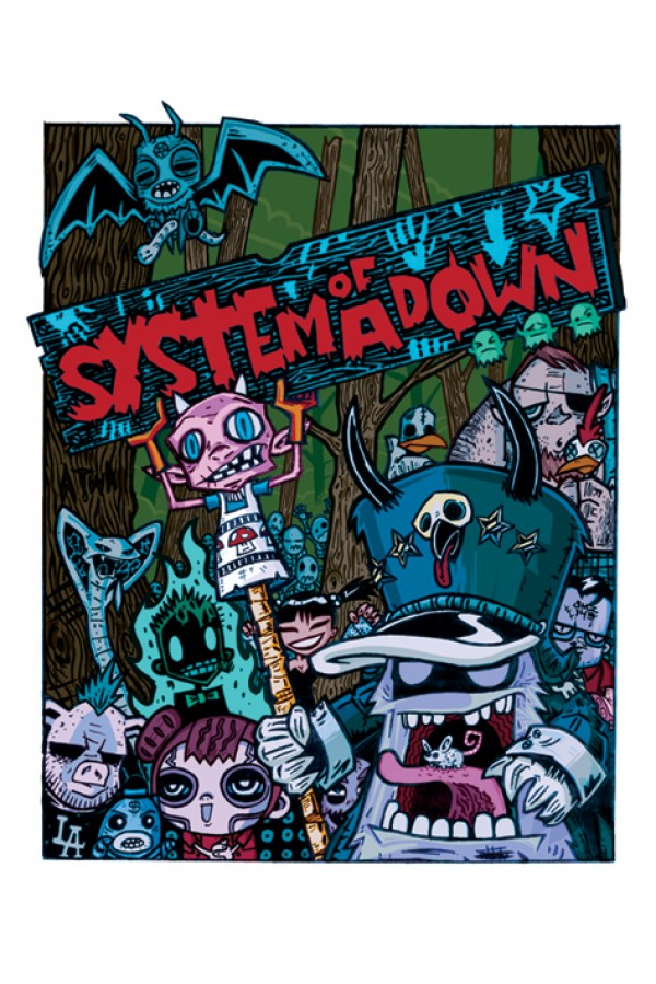 System Of A Down Cartoon Poster