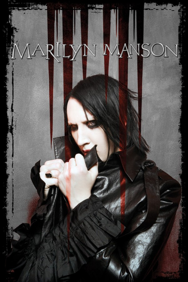 Marilyn Manson Blood Poster