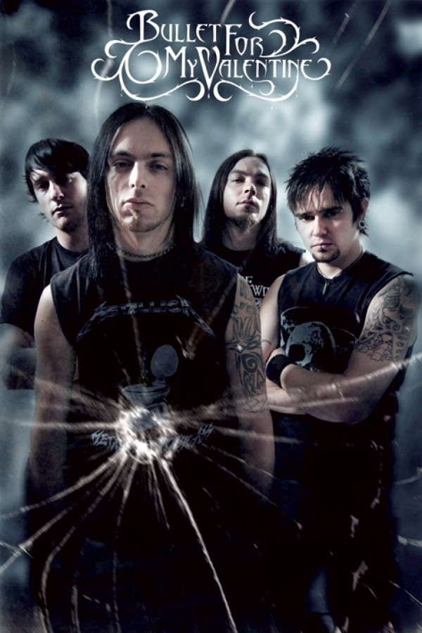 Bullet For My Valentine Bullet Hole Poster