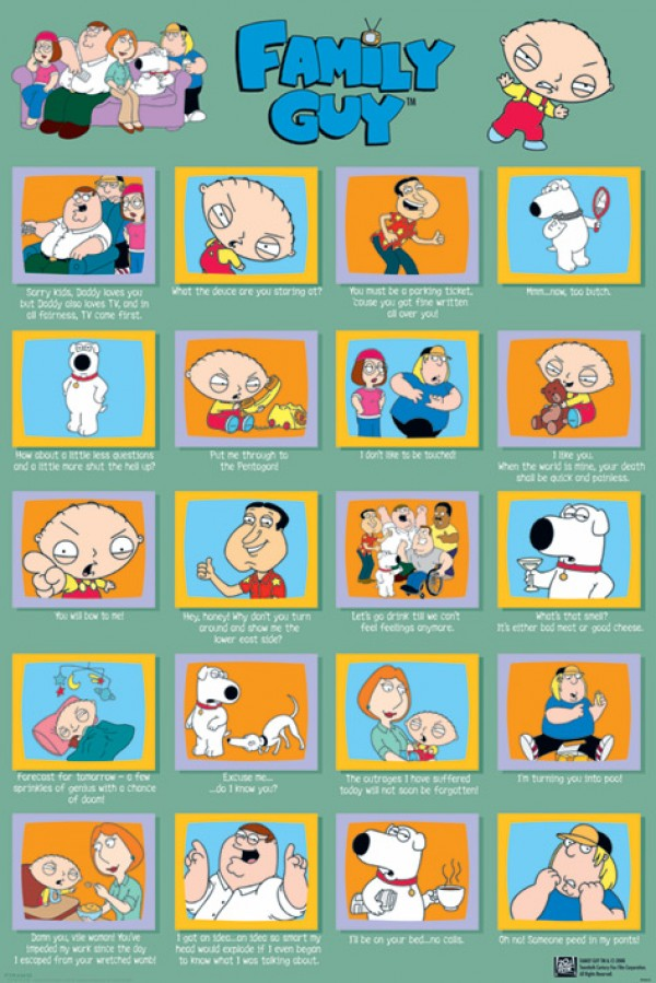 Family Guy Quotes Poster