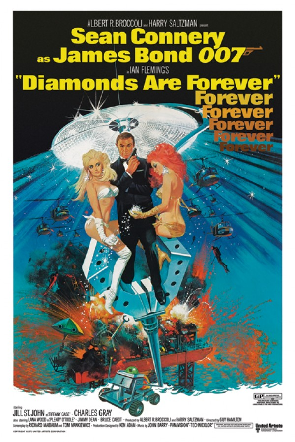 James Bond Diamonds Are Forever Poster