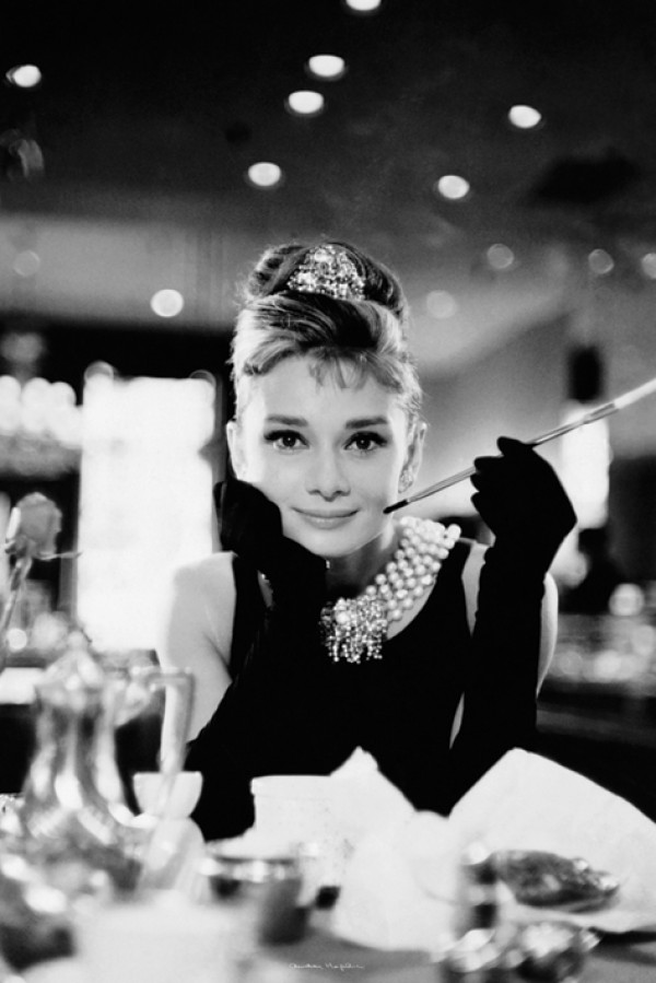 Audrey Hepburn Breakfast At Tiffanys Cigarello Poster