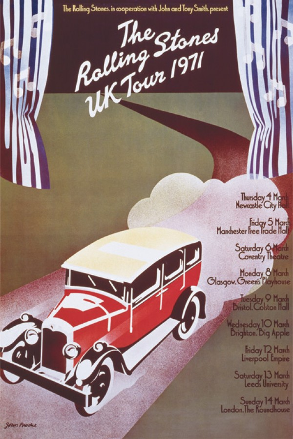 Rolling Stones UK Tour 1971 Poster