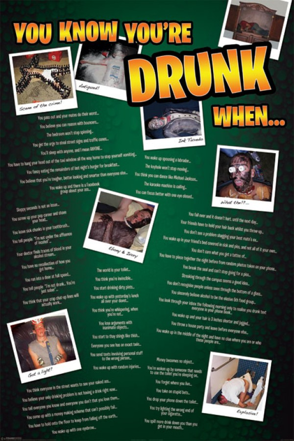 You Know You're Drunk Poster
