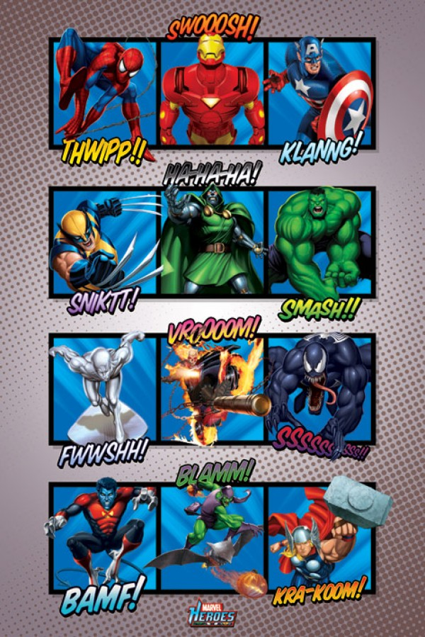 Marvel Heroes (Sounds) Poster