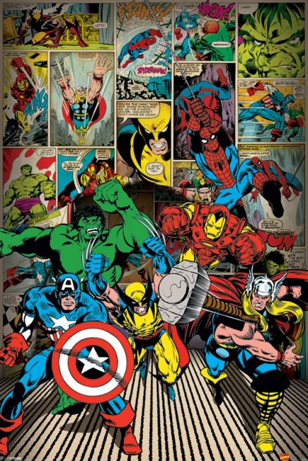 Marvel Here Come The Heroes Poster