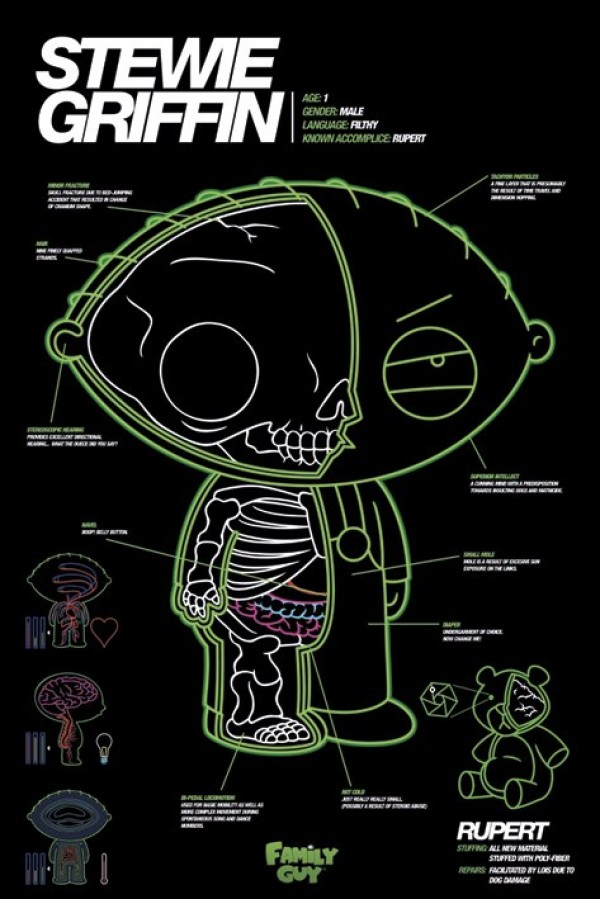 Family Guy Stewie X Ray Poster