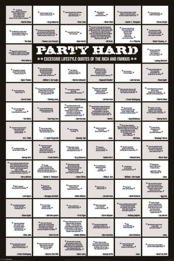Party Hard Quotes Poster