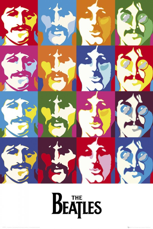 Beatles Sea Of Colours Poster