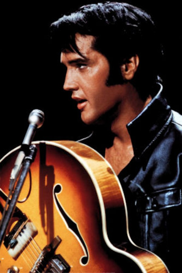 Elvis Presley poster featuring the king live with guitar