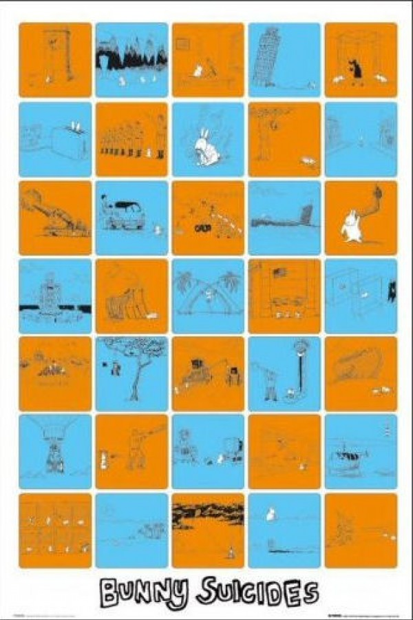 Andy Riley Bunny Suicides Montage Poster