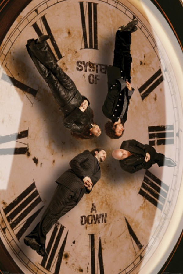 System Of A Down Clock Poster