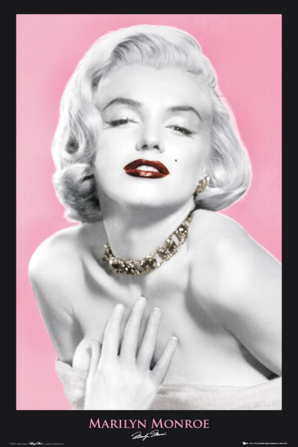 Marilyn Monroe Necklace Poster