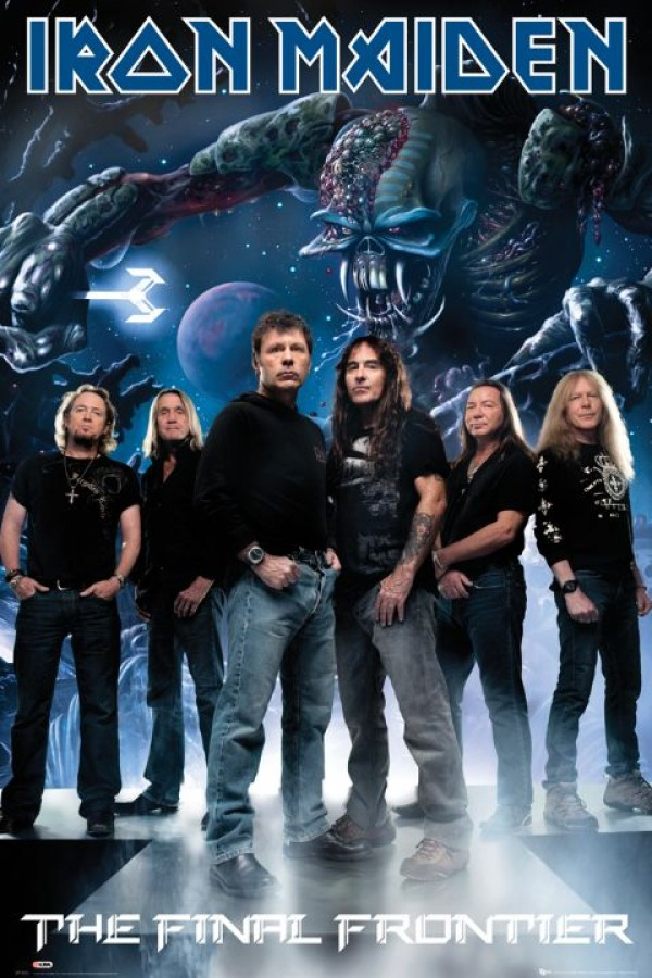 Iron Maiden Final Frontier Band Poster