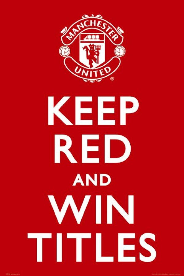 Man United Keep Red Poster