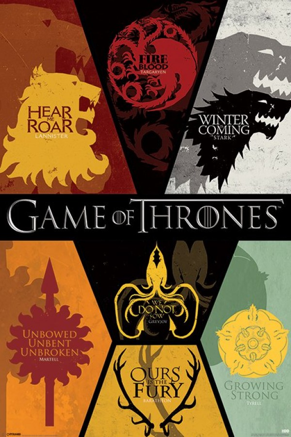 Game Of Thrones (Sigils) Poster