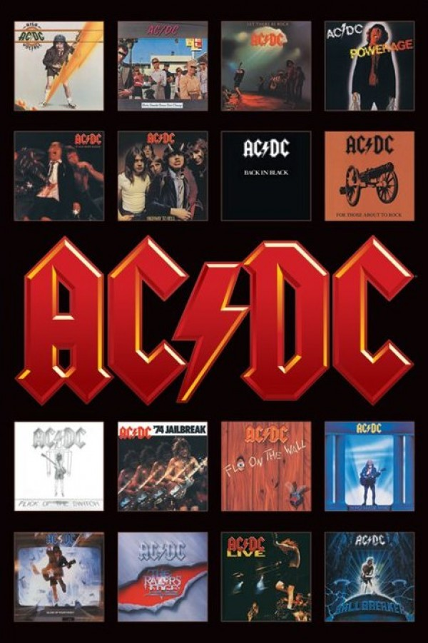 AC/DC (Album Covers) Poster