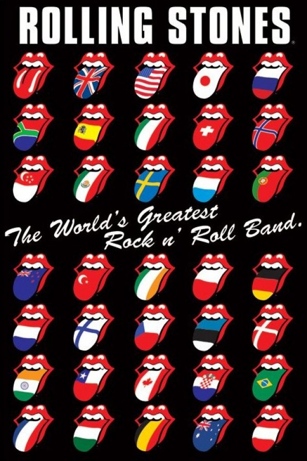 Rolling Stones International Lips and Tongue poster, The World's Greatest Rock & Roll band