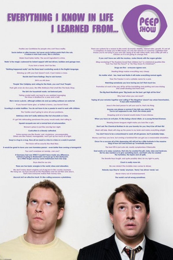 Peep Show Everything I Learned Poster