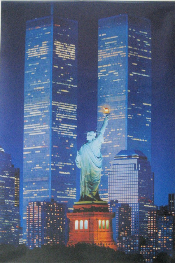 New York Statue Of Liberty / World Trade Centre Poster