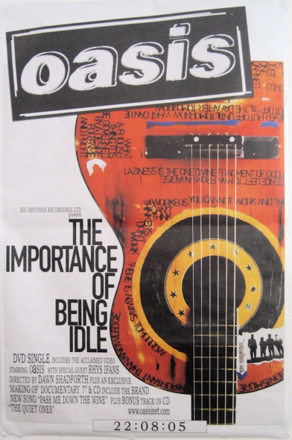Oasis Importance Of Being Idle Giant Poster