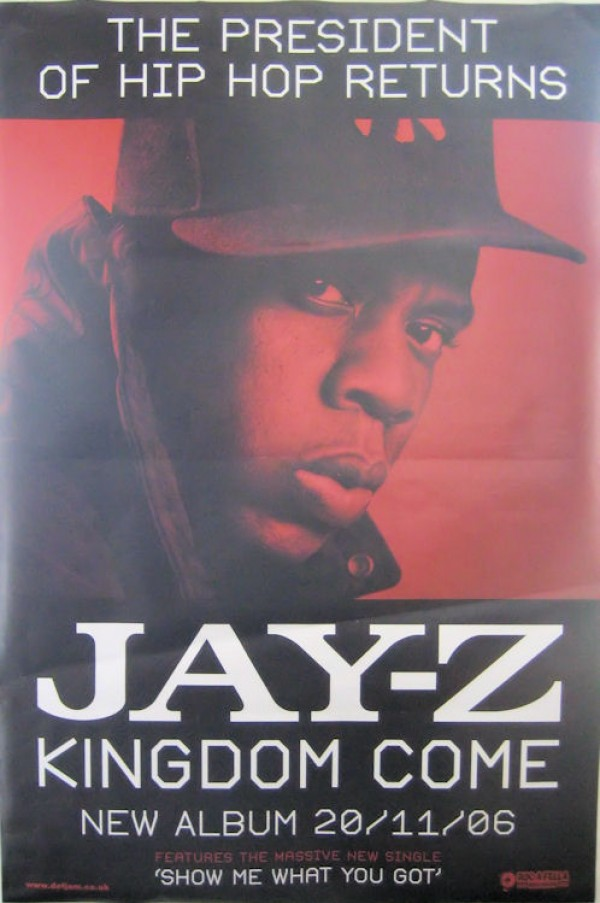 Jay-Z Kingdom Come Giant Promo Poster